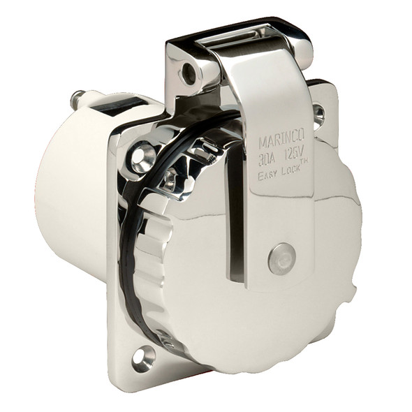 Marinco 303SSEL-B 30A Power Inlet - Stainless Steel - 125V [303SSEL-B]