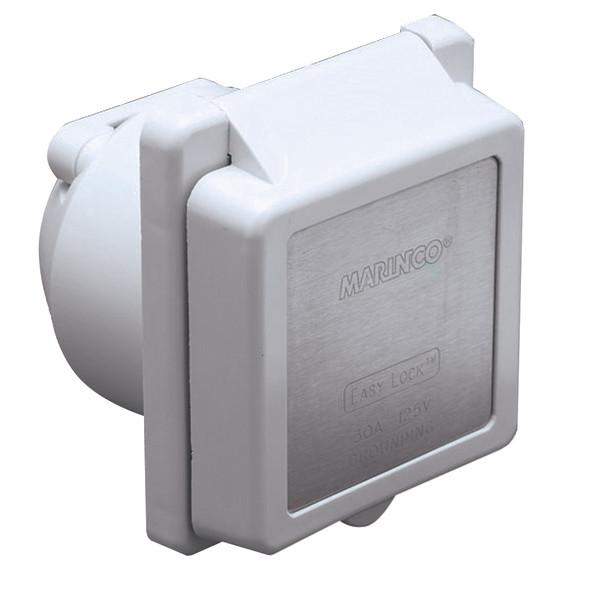 Marinco 301EL-B 30A Power Inlet - White - 125V [301EL-B]
