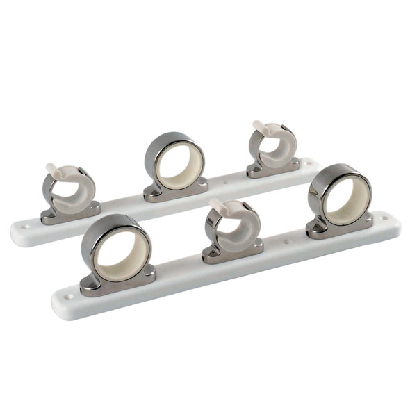 TACO 3-Rod Hanger w/Poly Rack - Polished Stainless Steel [F16-2753-1]