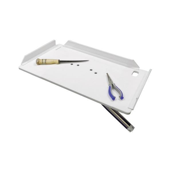 "TACO 20"" Poly Filet Table w/Adjustable Gunnel Mount - White [P01-2120W]"