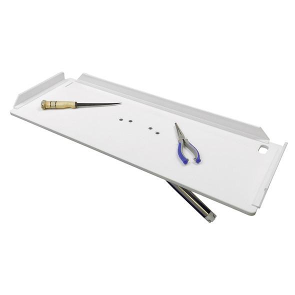 "TACO 32"" Poly Filet Table w/Adjustable Gunnel Mount - White [P01-2132W]"