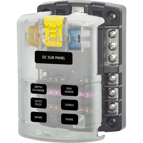 Blue Sea 5025 ST Blade Fuse Block w\/Cover - 6 Circuit w\/Negative Bus [5025]