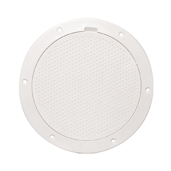 """Beckson 6"""" Non-Skid Pry-Out Deck Plate - White [DP63-W]"""