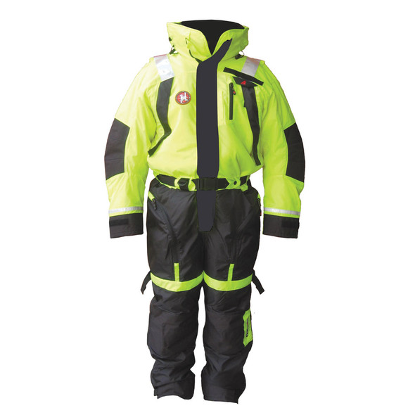First Watch Anti-Exposure Suit - Hi-Vis Yellow\/Black - Large [AS-1100-HV-L]