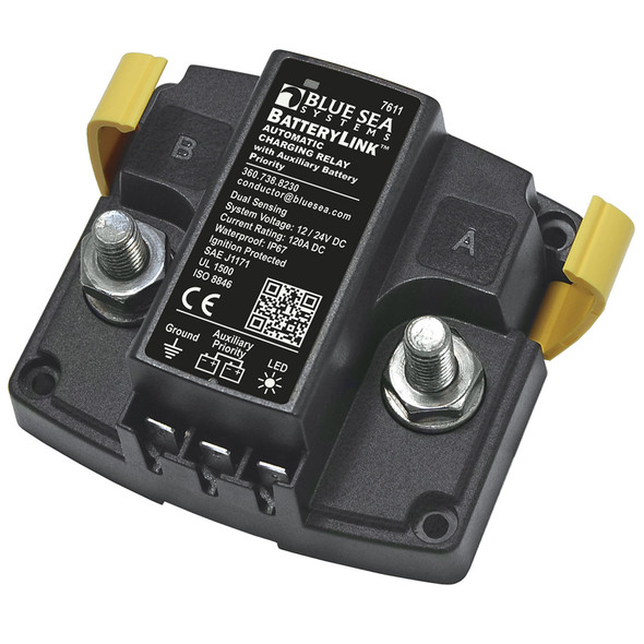 Blue Sea 7611 DC BatteryLink Automatic Charging Relay - 120 Amp w\/Auxiliary Battery Charging [7611]