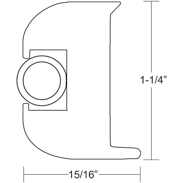 TACO Flex Vinyl Rub Rail Kit - White w/White Insert - 50' [V11-3447WWK50-2]