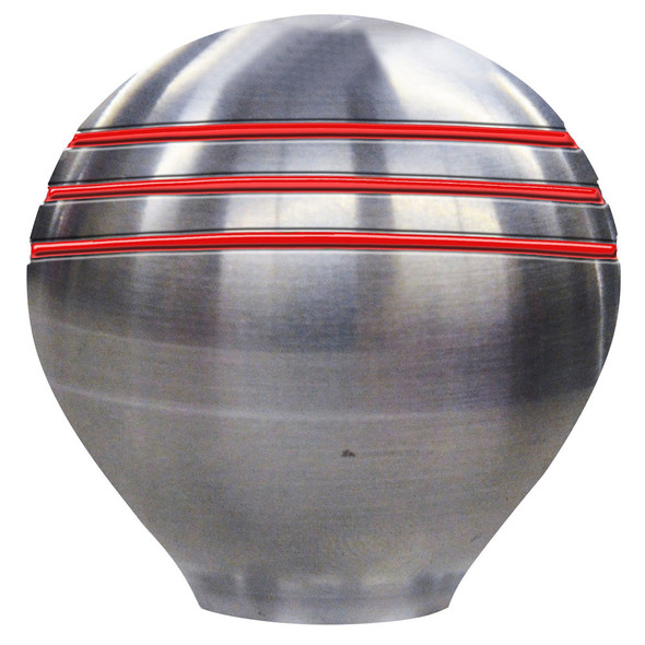 "Ongaro Throttle Knob - 1-1/2"" - Red Grooves [50020]"