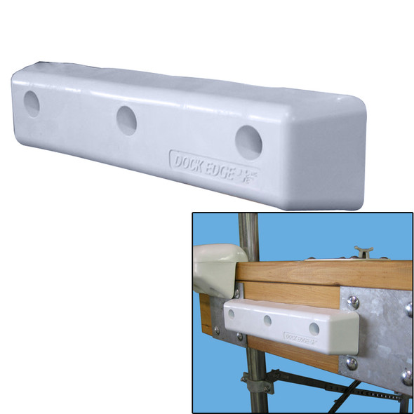"""Dock Edge Protect Straight HD 12"""" PVC Dock Bumpers [1058-F]"""