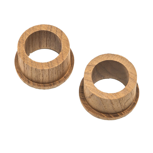 "Whitecap Teak Finger Pull - 5\/8"" Barrel Length - 2 Pack [60145-A]"