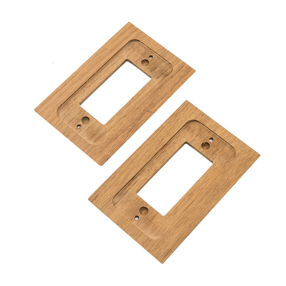 Whitecap Teak Ground Fault Outlet Cover\/Receptacle Plate [60171]