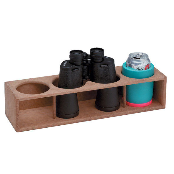 Whitecap Teak Four Insulated Drink\/Binocular Rack [62634]