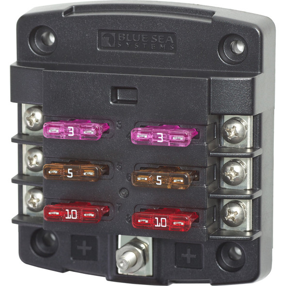 Blue Sea 5033 ST Blade Fuse Block w\/out Cover - 6 Circuit w\/out Negative Bus [5033]