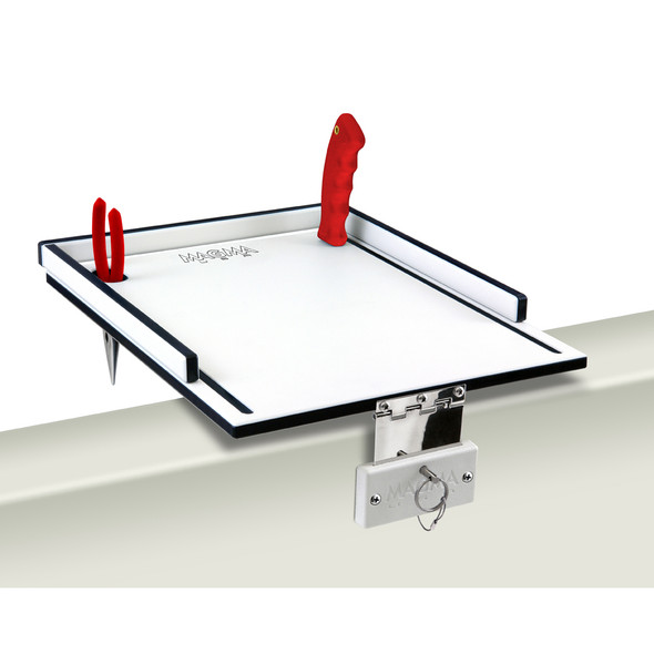 "Magma Econo Mate Bait Filet Table - 12"" - White\/Black [T10-311B]"