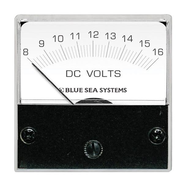 "Blue Sea 8028 DC Analog Micro Voltmeter - 2"" Face, 8-16 Volts DC"