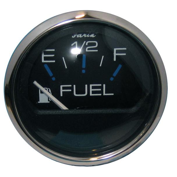 "Faria Chesapeake Black SS 2"" Fuel Level Gauge (E-1\/2-F) [13701]"