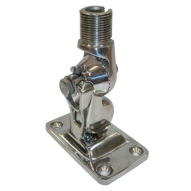 Glomex 4-Way Stainless Steel Ratchet Mount w\/Locking Clip - Glomeasy [RA107SSFME]