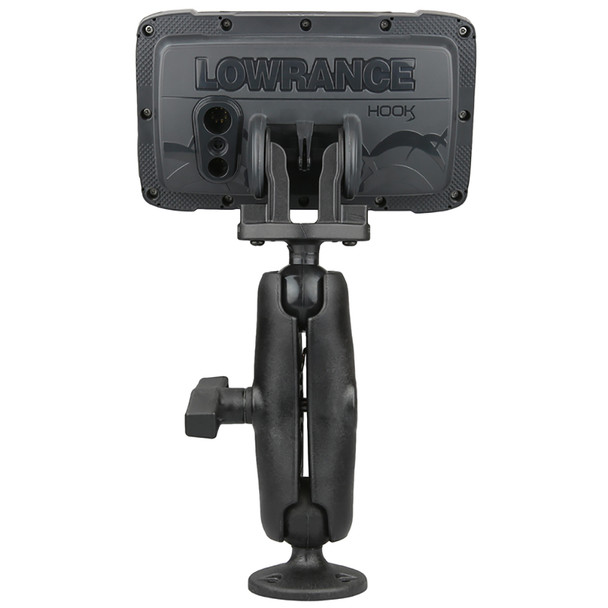 "RAM Mount C Size 1.5"" Composite Fishfinder Mount for the Lowrance Hook2 Series [RAP-101-LO12]"