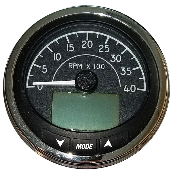 "Faria 4"" Tachometer (4000 RPM) J1939 Compatible w/o Pressure Port - Euro Black w/Stainless Steel Bezel [MGT059]"