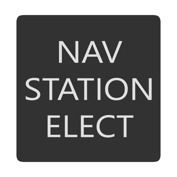 Blue Sea 6520-0321 Square Format Nav Station Elect Label [6520-0321]