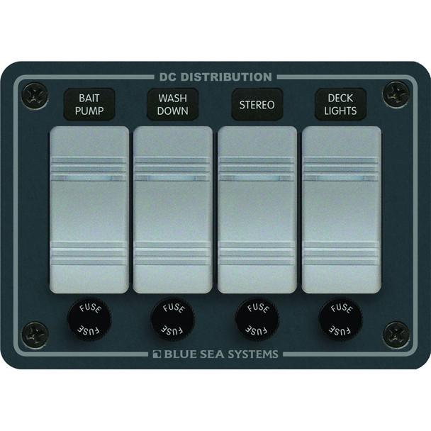 Blue Sea 8262 Waterproof Panel 4 Position - Slate Gray [8262]