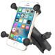 RAM Mount Universal X-Grip Cell Phone Cradle w\/Double Socket Arm [RAP-HOL-UN7B-201U]
