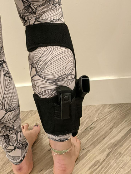 Soft Neoprene Ankle Holster w/ Extra Mag Pouch