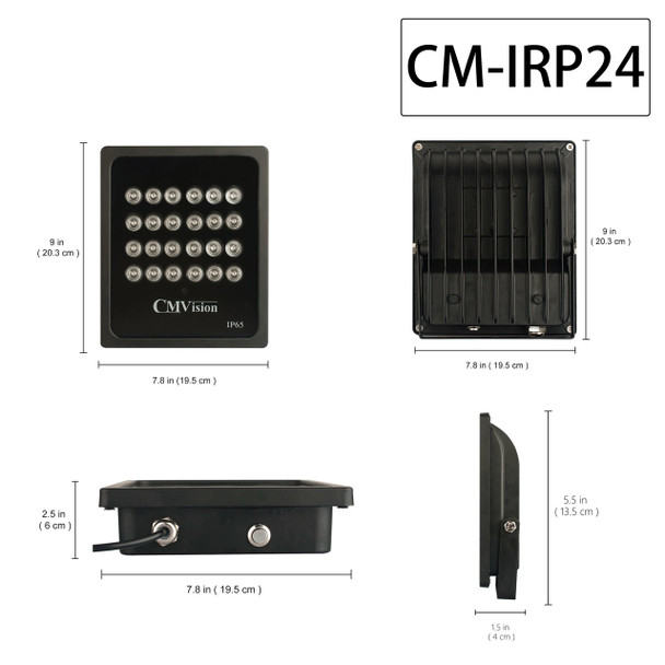 CMVision IRP24-940nm Invisible WideAngle 24pc High Power LED IR Array Illuminator