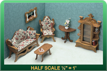 Half Scale Laser Cut Living Room Furniture Kit