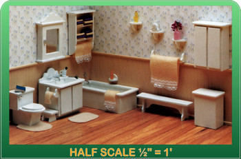 Half Scale Laser Cut Master Bathroom Furniture Kit