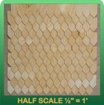 Half Scale Laser Cut Diamond Shaped Speed Shingle Strips