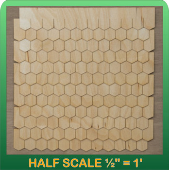 Half Scale Laser Cut Hex Shaped Speed Shingle Strips