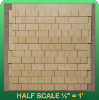Half Scale Laser Cut Rectangular Shaped Speed Shingle Strips