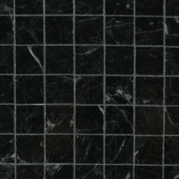 Miniature Scale Vinyl Floor Tiles Black