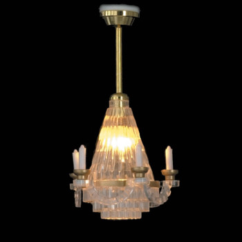 Dollhouse Ceiling Lights - Crystal Candelabra
