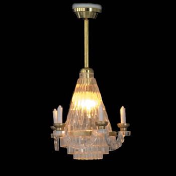 Dollhouse Ceiling Lights - Crystal Candelabra