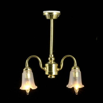 Dollhouse Ceiling Lights - Two Arm Chandelier