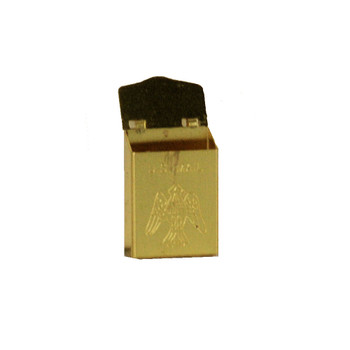 Dollhouse Miniature Brass Mailbox