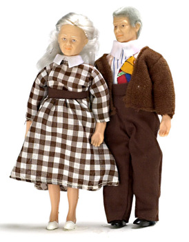 Dollhouse Doll Grandpa and Grandma