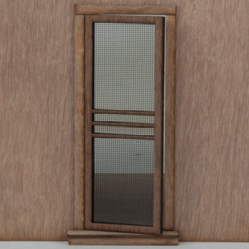Miniature Dollhouse Screen Door