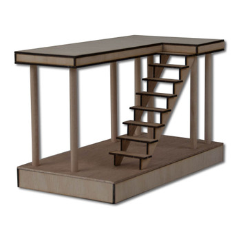 Dollhouse Boardwalk Stairs