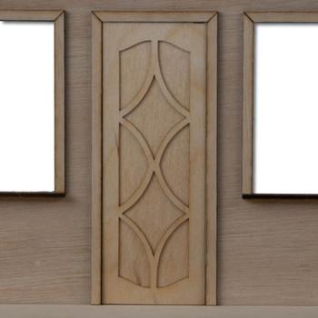 Fancy Dollhouse Door Style 1