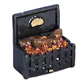 Miniature Glowing Fireplace Insert