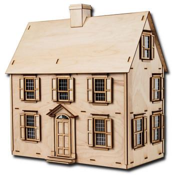 Laser Cut Half Scale Jefferson Dollhouse Kit