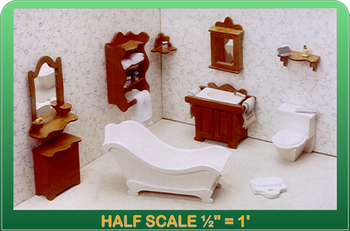 Half Scale Laser Cut Bathroom Furniture Kit