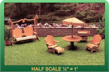 Half Scale Laser Cut Patio Furniture Kit