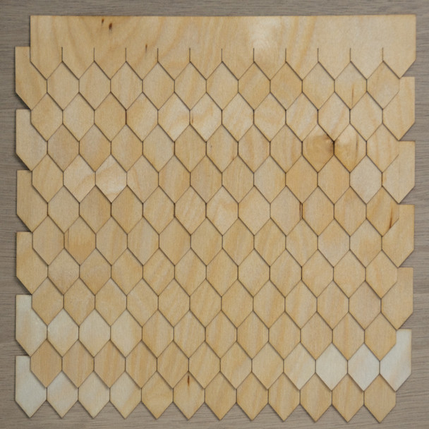 Laser Cut Diamond Shaped Speed Shingles Strips