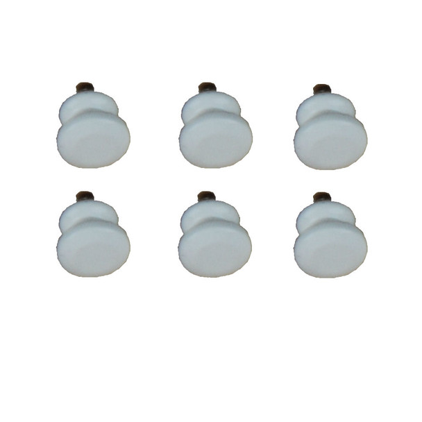 Dollhouse Miniature White Door Knobs