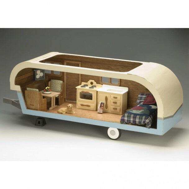 Travel Trailer Dollhouse Kit
