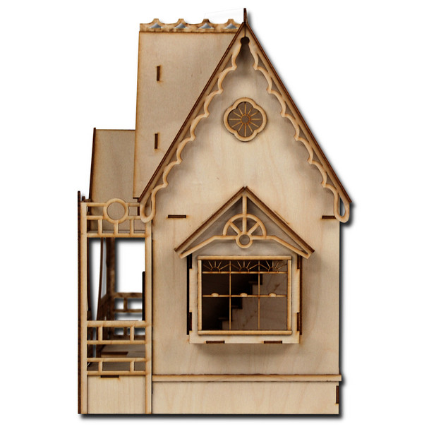 Side view of the Half Scale Diana Dollhouse