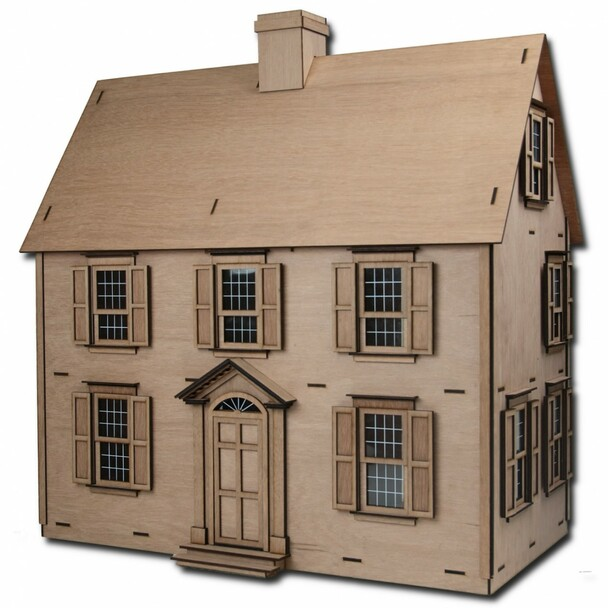 Laser Cut Jefferson Dollhouse Kit